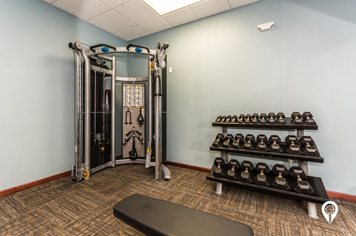 The-Legacy-Apartments-Fitness-center-with-weights-cardio-equipment